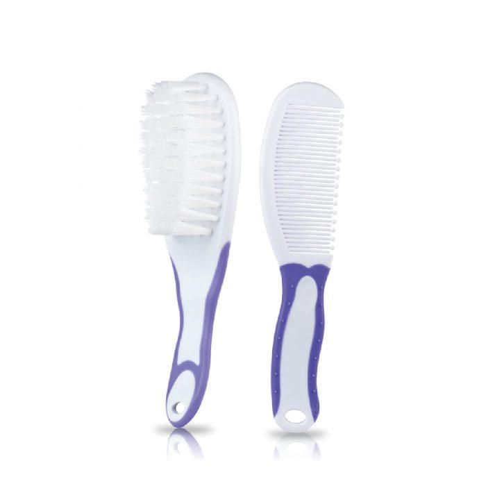 Soft Grip Comb & Brush Set