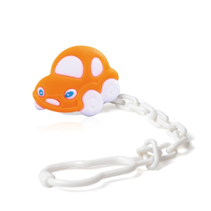 Pacifier Holder (car/dolphin/dog) (SET of 3 pcs)