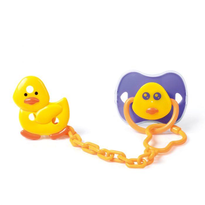 Duck Pacifier & Holder Set