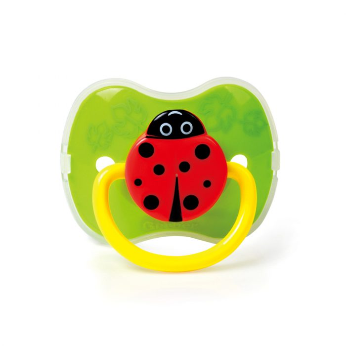 Ladybug Pacifier with Cover (Silicone Teat)