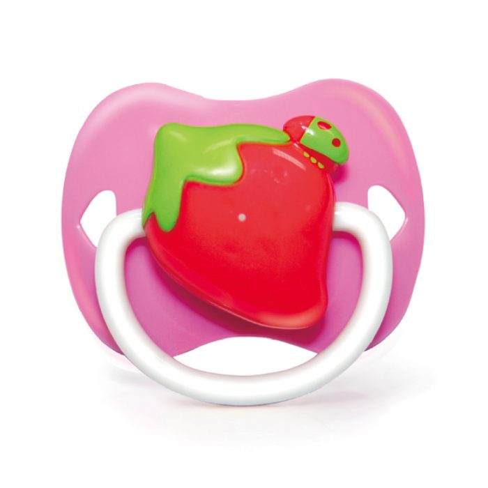 Strawberry Pacifier (Silicone Teat)
