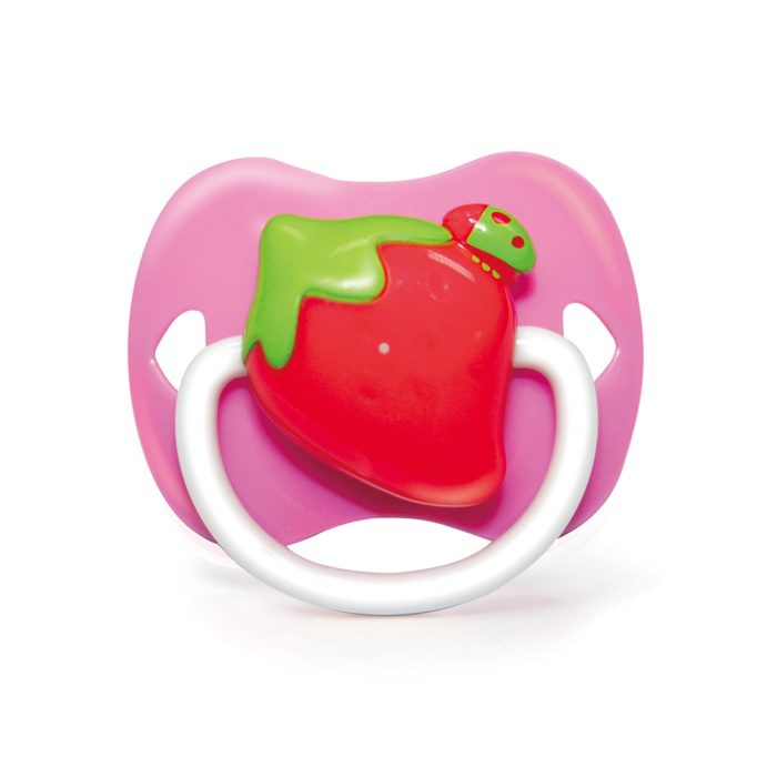 Strawberry Pacifier Orthodontic with Cover