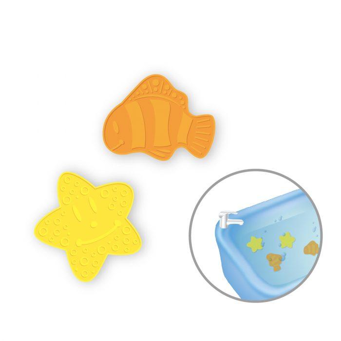 Mini Bath Mat (@3 of Fish/Star, 6pcs pack)