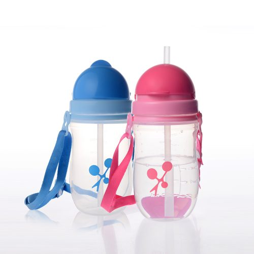 Straw Training Cup with Shoulder Strap(360ml)