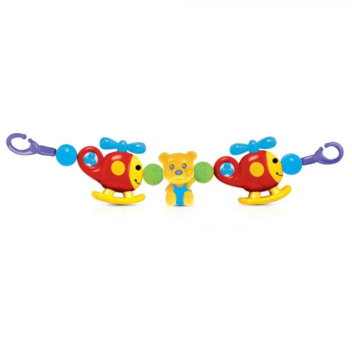 2 Helicopter 1 Bear Crib & Pram Toy