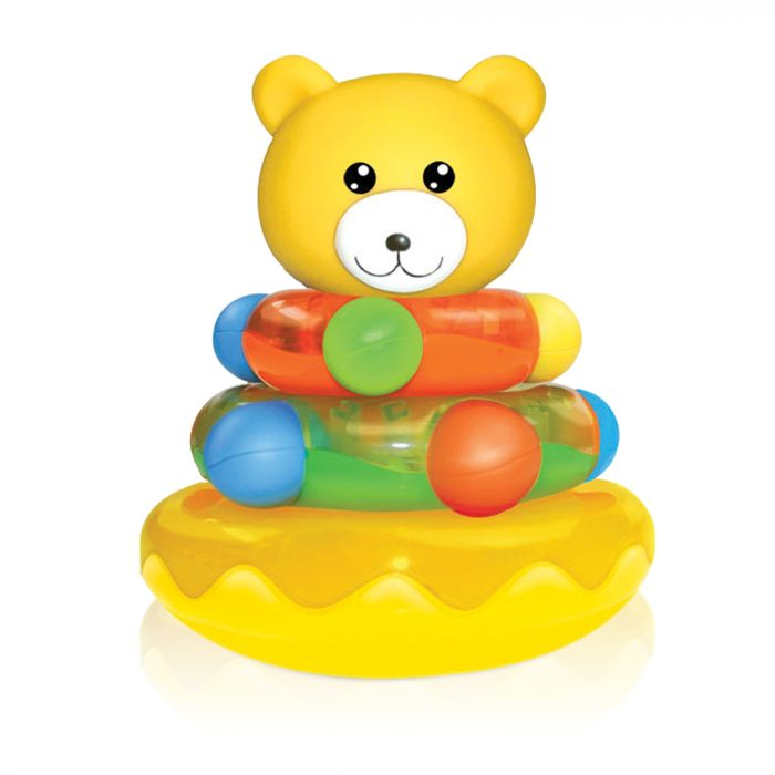 Roly Poly with Soft Teether Stud - PVC Bear
