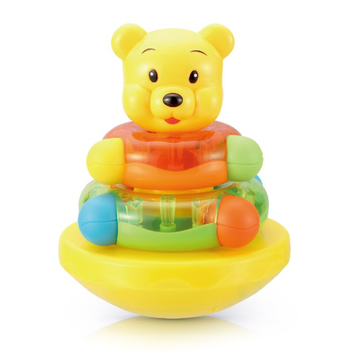 Roly Poly with Soft Teether Stud - Hard Plastic Bear