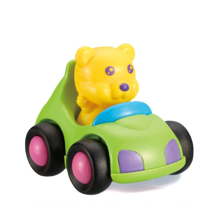 Toy Jeep with Bear