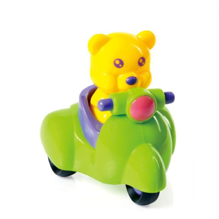 Toy Motorcycle with Bear