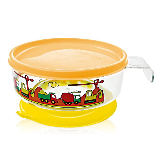 Easy Held Feeding Bowl with Scution Base