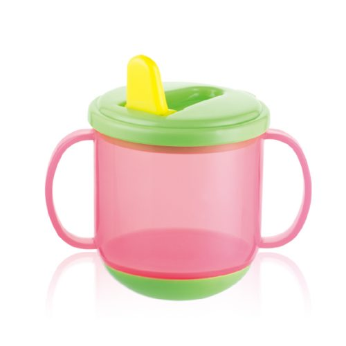 Flip-up Training Cup with Weight Bottom(Semi-clear colors)