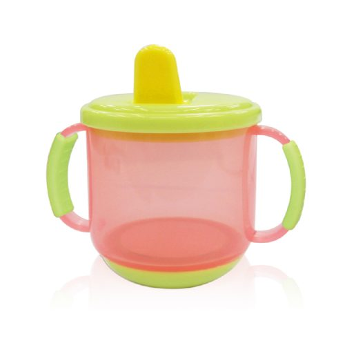 Soft Grip Handle Training Cup with Weight Bottom(Semi-clear Colors)