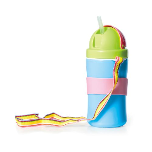 Flip Top Straw Cup with Strap (10oz)